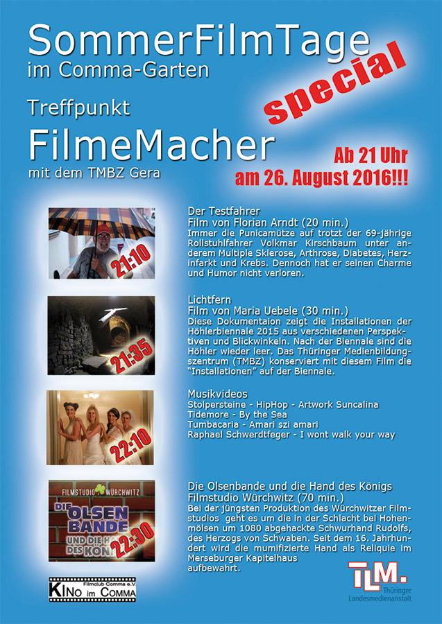 Sommerfilmtage Gera im Comma