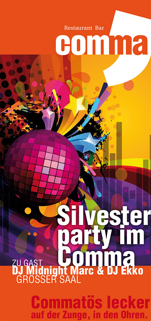 Silvester party im Comma, Gera