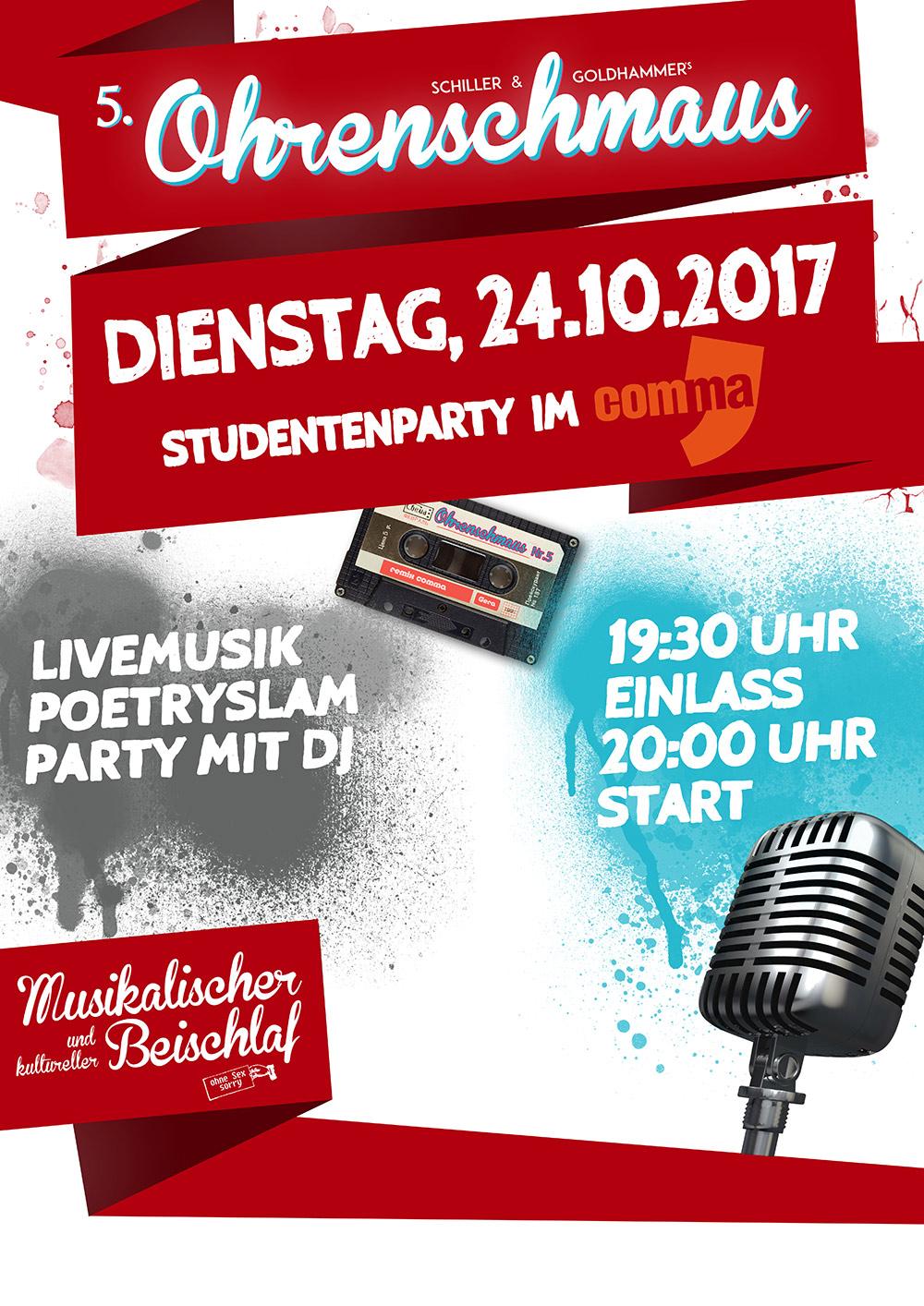 Ohrenschmaus Studentenparty im Comma Gera